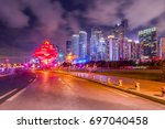 architectural scenery and...   Shutterstock . vector #697040458