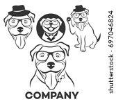 pit bull logo | Shutterstock .eps vector #697046824