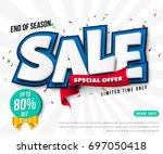 sale banner template design ... | Shutterstock .eps vector #697050418