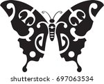 maori butterfly in polynesian...   Shutterstock .eps vector #697063534