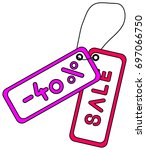 colorful hanging 40  discount... | Shutterstock .eps vector #697066750