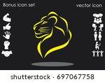lion icon vector illustration...   Shutterstock .eps vector #697067758