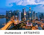Singapore Cityscape At Dusk....