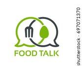 food talk logo template designs ... | Shutterstock .eps vector #697071370