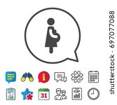 pregnant sign icon. women... | Shutterstock .eps vector #697077088