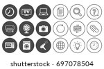 home appliances  device icons.... | Shutterstock .eps vector #697078504