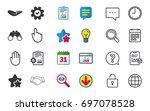 hand icons. handshake... | Shutterstock .eps vector #697078528