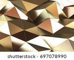abstract metal background.  3d... | Shutterstock . vector #697078990