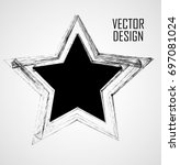 stamps collection. grunge stars ... | Shutterstock .eps vector #697081024