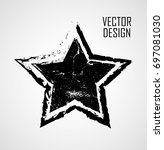 stamps collection. grunge stars ... | Shutterstock .eps vector #697081030
