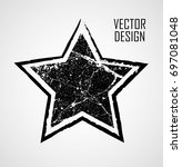 stamps collection. grunge stars ... | Shutterstock .eps vector #697081048