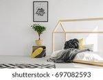 modern scandinavian child's...   Shutterstock . vector #697082593