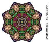 oriental stylized ornament...   Shutterstock .eps vector #697086544