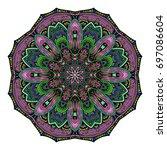 oriental stylized ornament...   Shutterstock .eps vector #697086604