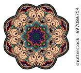 oriental stylized ornament...   Shutterstock .eps vector #697086754