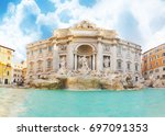 Fountain Trevi In Rome At...