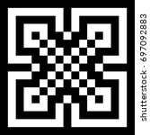 Illusive Tile With Black White...