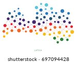 dotted texture latvia vector... | Shutterstock .eps vector #697094428