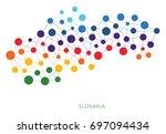 dotted texture slovakia vector... | Shutterstock .eps vector #697094434