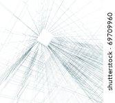 blueprint concept. 3d render on ... | Shutterstock . vector #69709960