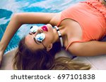close up fashion portrait of... | Shutterstock . vector #697101838
