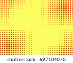 pop art seamless pattern.... | Shutterstock .eps vector #697104070