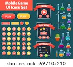 colorful game user interface... | Shutterstock .eps vector #697105210