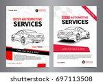 set of automotive services... | Shutterstock .eps vector #697113508