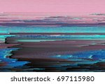 colorful glitched background.... | Shutterstock .eps vector #697115980