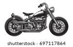 monochrome illustration of... | Shutterstock . vector #697117864