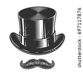 monochrome illustration of top...   Shutterstock . vector #697117876