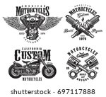 set of vintage custom... | Shutterstock .eps vector #697117888