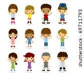 kids model set | Shutterstock .eps vector #69711793