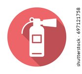 fire extinguisher flat icon.... | Shutterstock .eps vector #697121758