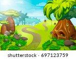 cartoon jungle landscape....