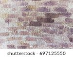 painting walls at wall with... | Shutterstock . vector #697125550