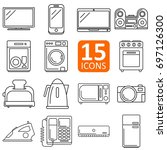 set of electronics icon vector | Shutterstock .eps vector #697126300