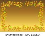 excellent autumn leaf frame. ...   Shutterstock . vector #69712660