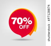 70  sale discount banner... | Shutterstock .eps vector #697128874