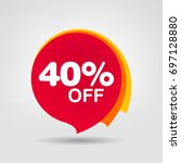 40  big sale discount banner.... | Shutterstock .eps vector #697128880