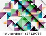triangle pattern design... | Shutterstock .eps vector #697129759