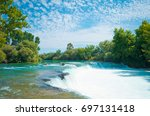 amazing view of manavgat... | Shutterstock . vector #697131418