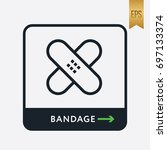 bandage icon. medicine symbol... | Shutterstock .eps vector #697133374