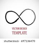 hipster sign. grunge infinity... | Shutterstock .eps vector #697136470