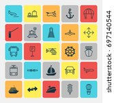 vehicle icons set. collection... | Shutterstock .eps vector #697140544