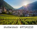 city of chur. cityscape image...   Shutterstock . vector #697141210