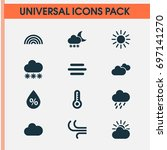 air icons set. collection of... | Shutterstock .eps vector #697141270