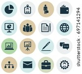 job icons set. collection of... | Shutterstock .eps vector #697141294