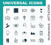 tourism icons set. collection... | Shutterstock .eps vector #697142404
