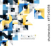 modern square geometric pattern ... | Shutterstock . vector #697143058